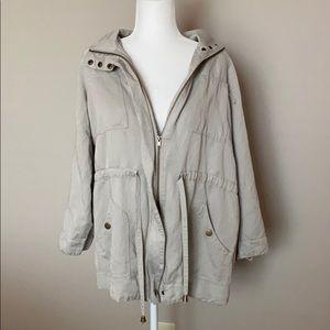 Joan Vass Tan Utility Jacket